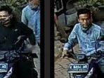 Aosi pelaku curanmor terekam CCTV