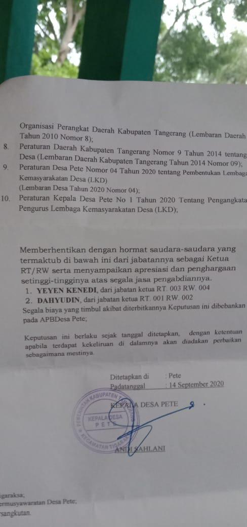 Kecamatan Tigaraksa Kabupaten Tangerang